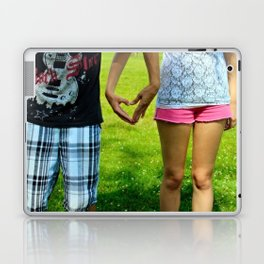 Makers of Love- A couple making a heart with their hands Laptop & iPad Skin