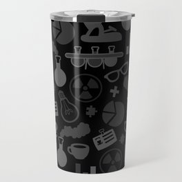Grey and Black Science Pattern Travel Mug