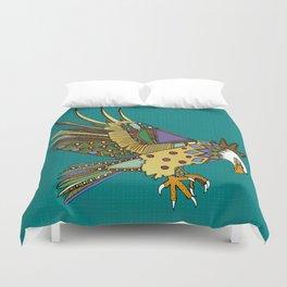 jewel eagle turquoise Duvet Cover