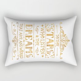 To the Stars - White Rectangular Pillow