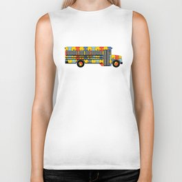 Autism Awareness School Bus Biker Tank