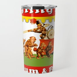 Retro Circus Poster - Monkeys Travel Mug