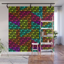Disco hexagons Wall Mural