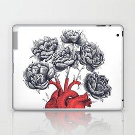 Heart with peonies Laptop & iPad Skin