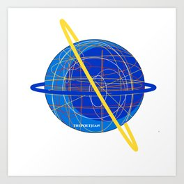 Out of This World Threads Art Print