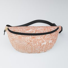 fall witchy doodle pattern warm colors Fanny Pack