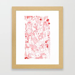 FACES IN THE CROWD Framed Art Print