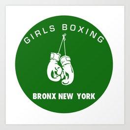 GIRLS BOXING Art Print