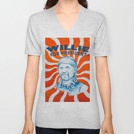Willie For President Unisex V-Neck