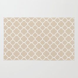 Clover Quatrefoil Pattern: Beige Rug
