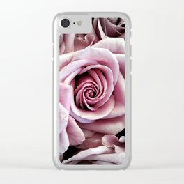 Pink Rose : Pop of Color Clear iPhone Case
