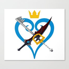 Kingdom Hearts キングダム ハーツ Keyblade Sora and Riku Canvas Print