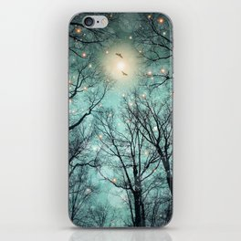Nature Blazes Before Your Eyes (Mint Embers) iPhone Skin