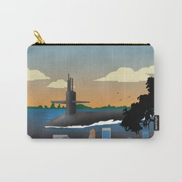 Kings Bay, GA - Retro Submarine Travel Poster Carry-All Pouch
