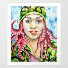 Fighting Under Seas Art Print