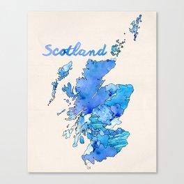 Watercolor Countries - Scotland Canvas Print