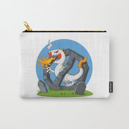 Cigarette - Monster spewing flames Carry-All Pouch