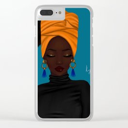 afrocentric Clear iPhone Case