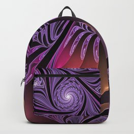 Colorful Fantasy, Abstract Fractal Art Backpack