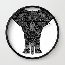 Paisley Elephant Wall Clock