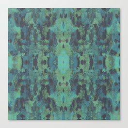 Sycamore Kaleidoscope - Graphite blue green Canvas Print