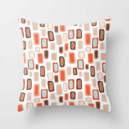 Retro Rectangles Throw Pillow