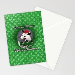 Christmas Opossum Stationery Cards