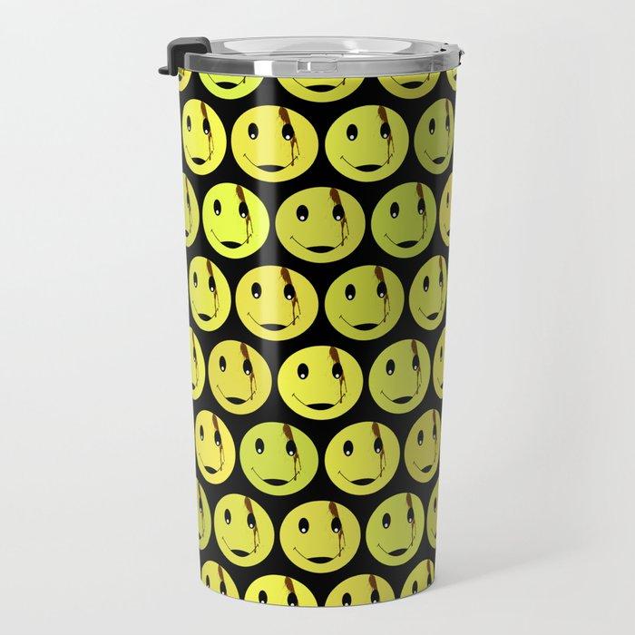 smiley face symbol Travel Mug