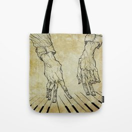 Hand of the pianist Tote Bag