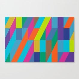 neon geometric frenzy Canvas Print