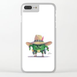 Pea Shooter Clear iPhone Case