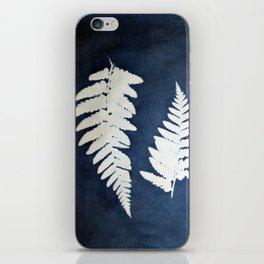 Fern leaf cyanotype l iPhone Skin