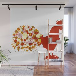 Chinese Lunar New Year Of The Rooster Zodiac Animal 2017 Wall Mural