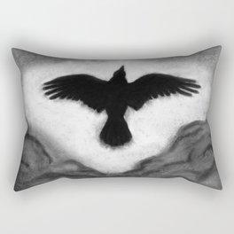 Flight of the Crow Rectangular Pillow