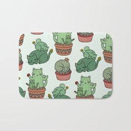 Cacti Cat pattern Bath Mat