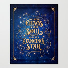 Dancing Star Canvas Print