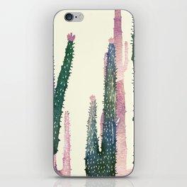 cactus water color iPhone Skin