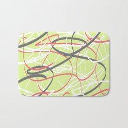 abstract lime Bath Mat