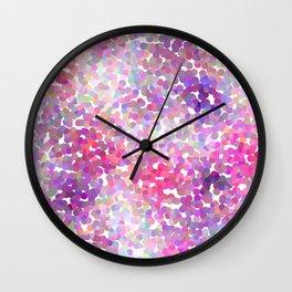Pink and Purple Galaxy Confetti Wall Clock
