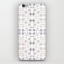 Dots, dots and more dots - blue & brown pastel colors iPhone Skin