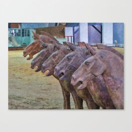 Terracotta Warriors' Horses 2 Canvas Print