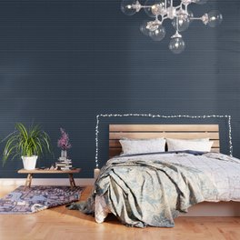 Faux Midnight Leather Buttoned Wallpaper