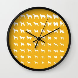 All Dogs (Gold) Wall Clock
