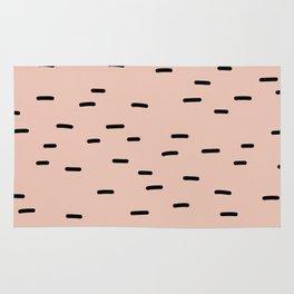 Peach dash abstract stripes pattern Rug
