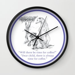 Time for Coffee Wall Clock