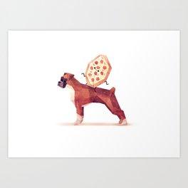 Pizza on Boxer Art Print