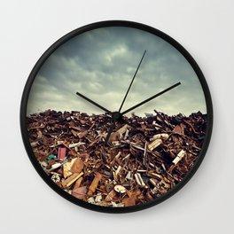 Scrapmetal Skies Wall Clock