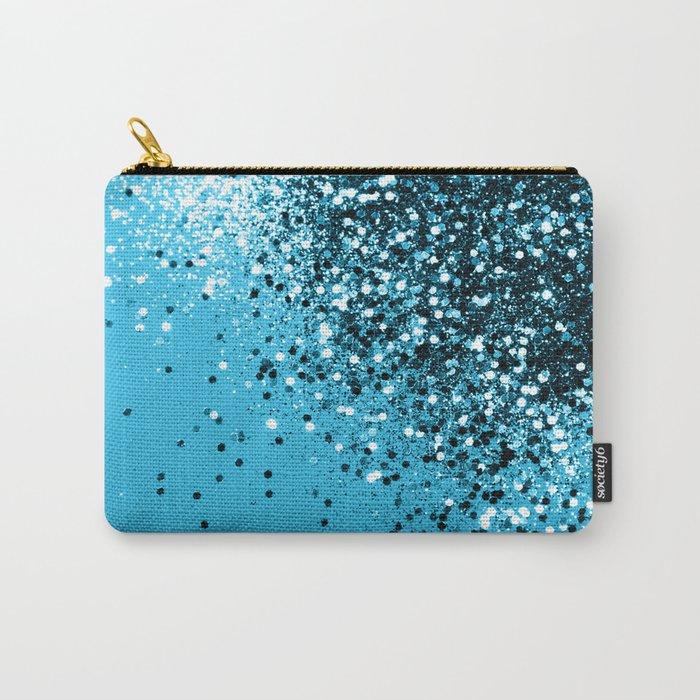 Sparkling BLUE OCEAN Glitter #2 #shiny #decor #art #society6 Carry-All Pouch