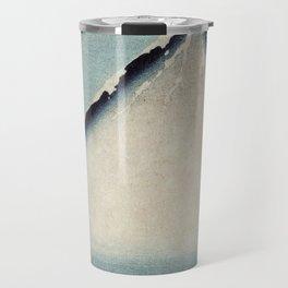 Hokusai, the blue fuji- hokusai,manga,japan,fuji, blue fuji,Shinto Travel Mug