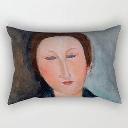 "Amedeo Modigliani ""Buste de jeune fille (Mademoiselle Marthe)"" Rectangular Pillow"